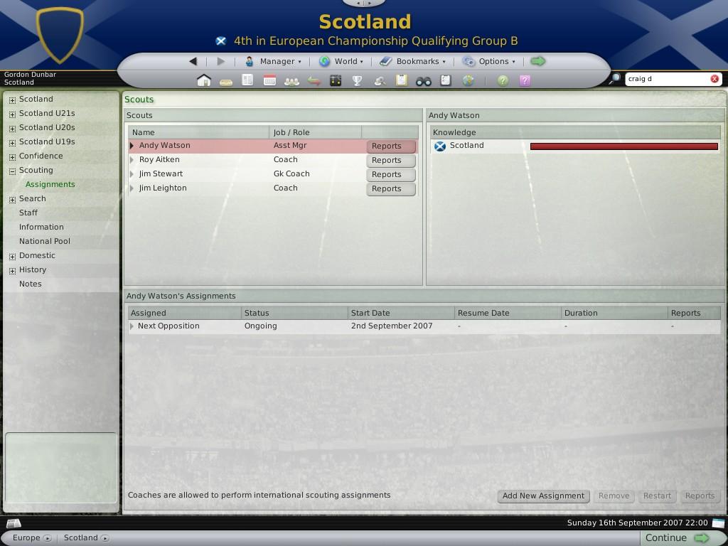 Скриншоты для игры Football Manager 2008.