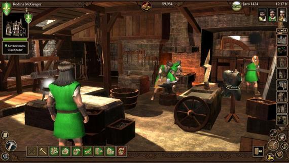 Kováčska dielňa a jej zamestnanci