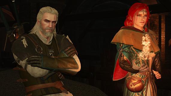 Geralt a Triss v akcii