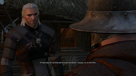 To, že Geralt neprejavuje emócie hneď neznamená, že nemôže zavtipkovať